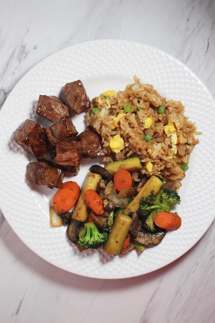 hibachi steak and veggies
