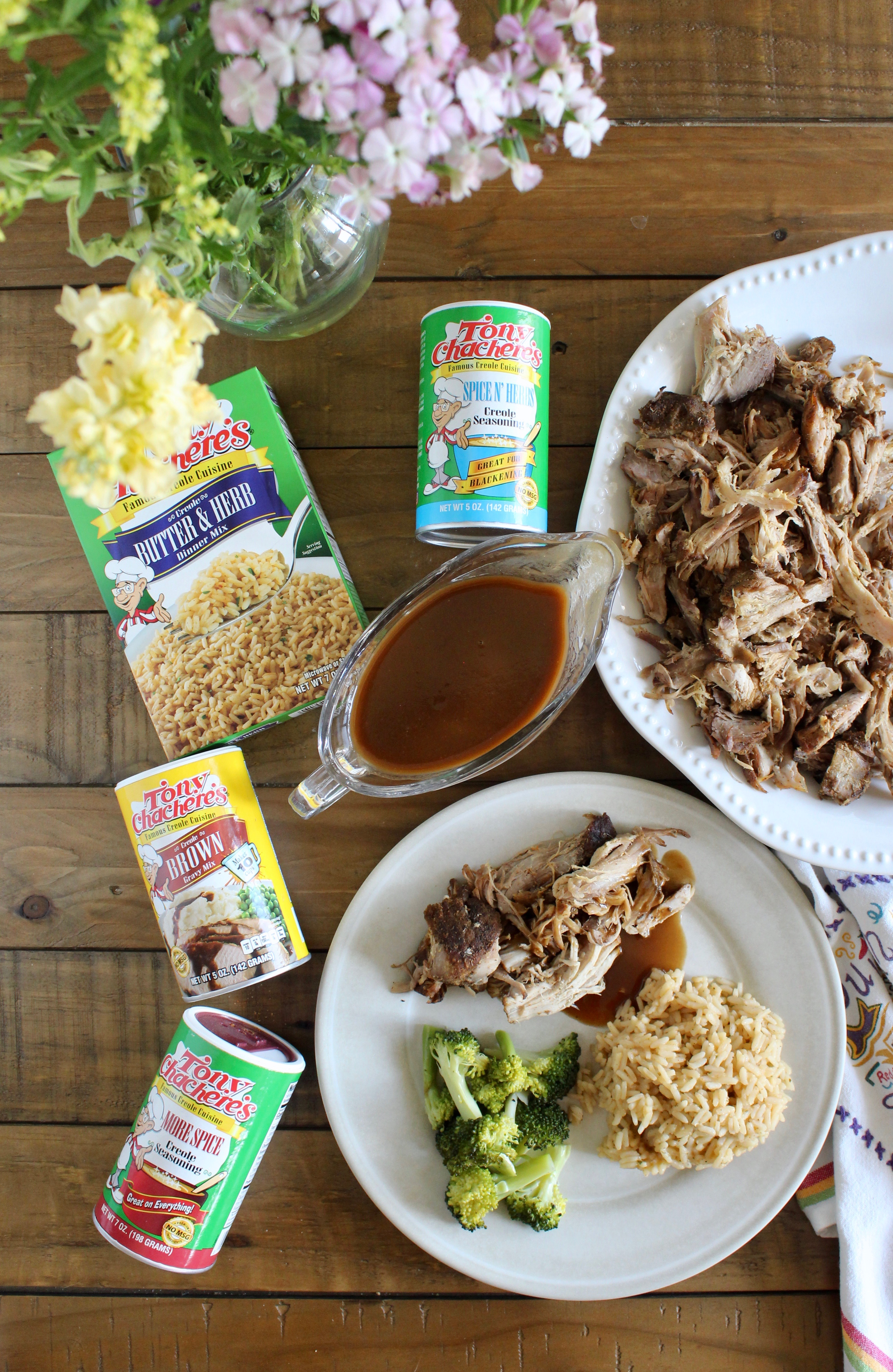 Slow Cooker Pork Roast with Tony Chachere's seasonings used