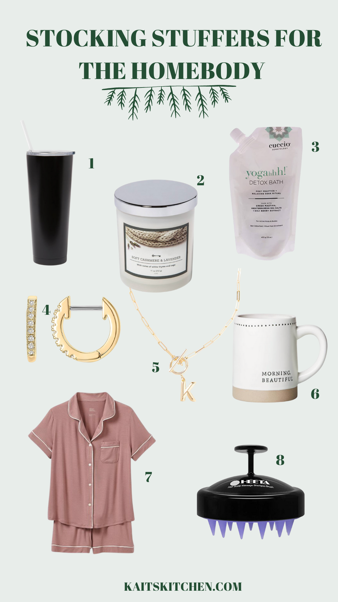 stocking stuffers for the homebody collage