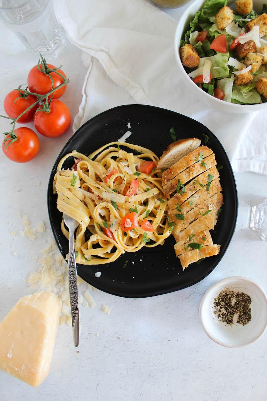 cajun chicken pasta on a plate.